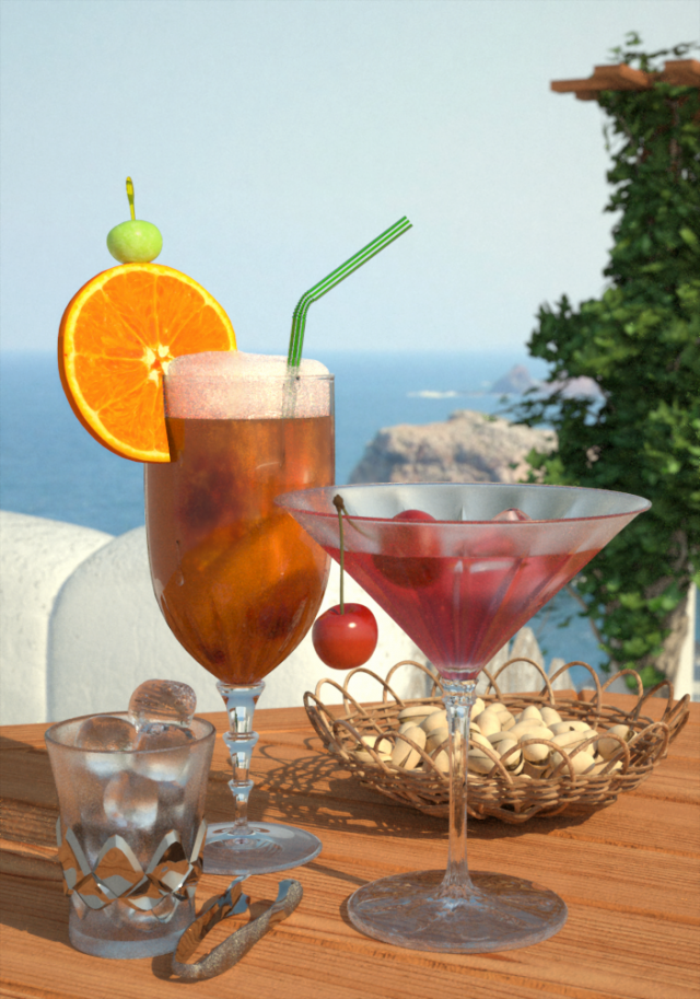 Cocktails Blender Render