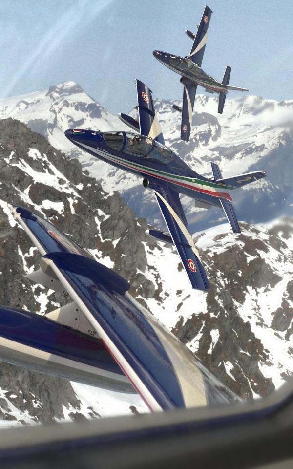 Frecce Tricolori Blender aerobatic aircraft