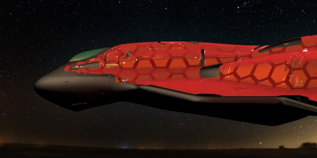Blender Spaceship front