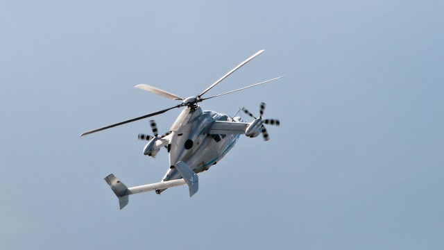 Eurocopter X3 high-speed helicopter flying a display at ILA Berlin Air Show 2012