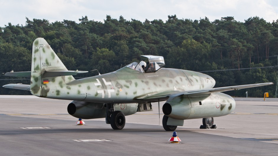 Messerschmitt Me 262 replica (Messerschmitt foundation) at ILA Berlin Air Show 2012.
