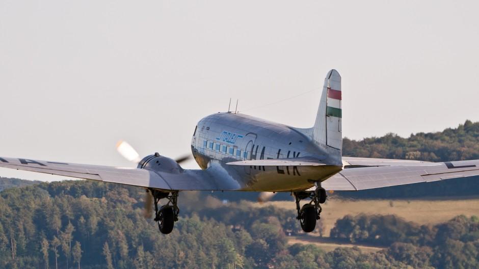 Malev - Hungarian Airlines (Gold Timer Foundation) Lisunov Li-2T (reg. HA-LIX, cn 18433209) at Oldtimer Fliegertreffen Hahnweide 2011