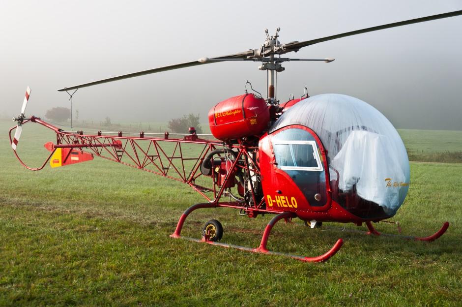 Bell 47G (D-HELO) at Oldtimer Fliegertreffen Hahnweide 2011