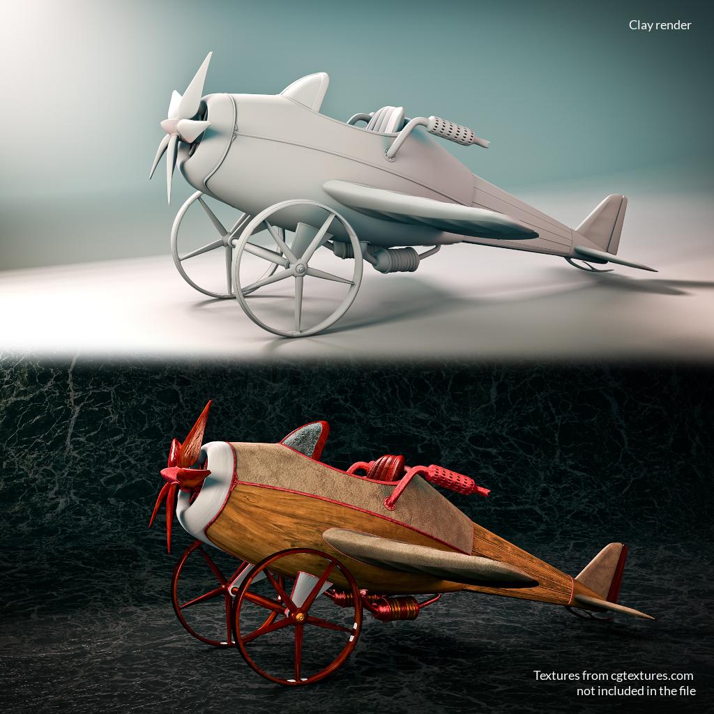 Steampunk Mini Aircraft