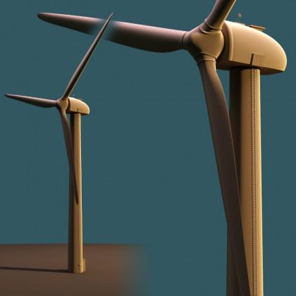 Wind Power Station blender model download