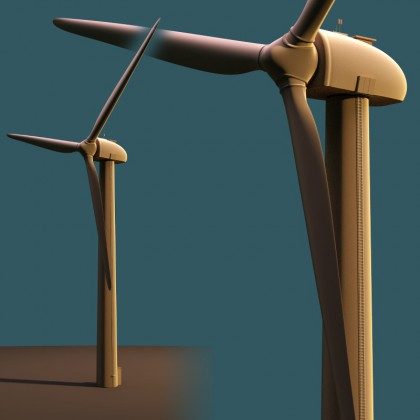 Wind Power Station model download