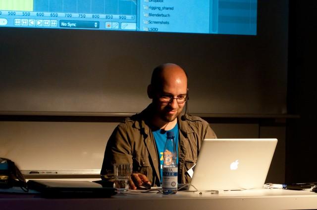 Happy Sebastian König on BlenderDay 2011