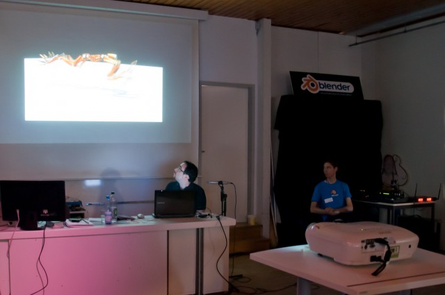 Francesco Faranna and Thomas Dinges on BlenderDay 2011