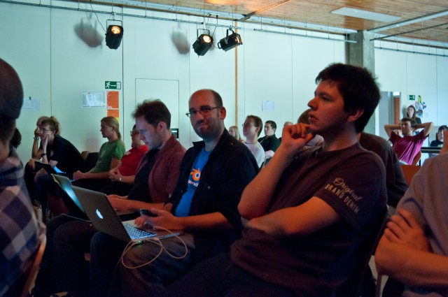 Audience at BlenderDay 2011